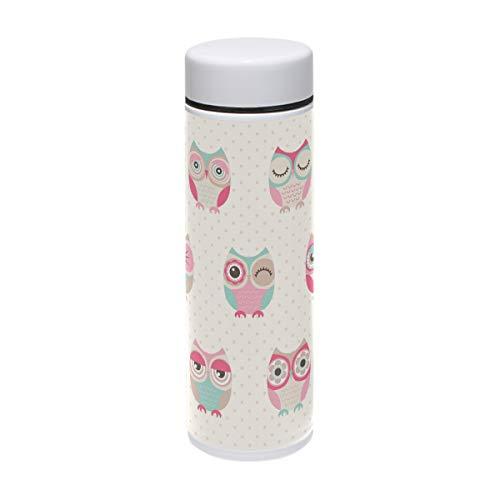 Bennigiry seamless gufi uccelli thermos in acciaio inox coppa bicchiere thermos a doppia parete travel cup, 212,6gram