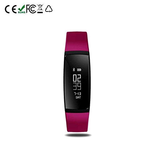 Smart Armband Bluetooth Sport Bracelet Schrittzähler,Bluetooth Aktivitätstracker Kalorienzähler Herzfrequenzmesser mit Sleep Monitor Smart uhr,für Smartphones mit Android System/Samsung/Sony/LG/Huawei