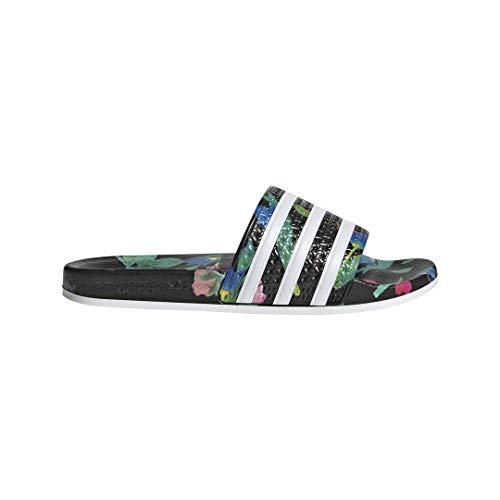 adidas Unisex-Erwachsene Originals ADILETTE Bade Sandalen - Schwarz(Black/White/Black),EU 37
