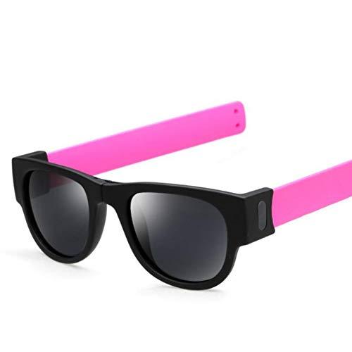 GJYANJING Sonnenbrille Kreative Faltbare Männer Frauen Sonnenbrille Armband Slappable Sonnenbrille Sonnenbrille Männliche Snap Armband Gläser