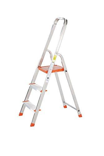 TB Davies Light Duty Leiter mit 3 Tritten–Ideale Aluminium-Stufen für Heimwerkerarbeiten rund um Ihr Zuhause; Hergestellt nach EN131-Norm