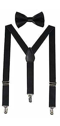 Skytouch Mens Suspender Belt & Bow (Skytouch _Black _Large)