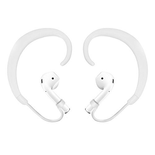 Zerone airpods archetto copertura gancio di fissaggio per Apple airpods Cuffie Auricolari, protezione anti perso Ganci per orecchini (bianco)