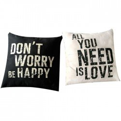PACK 2 COJINES FRASES 40x40CM
