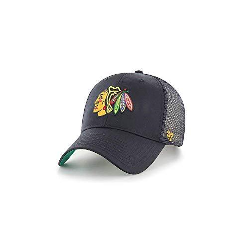 Gorra trucker negra de Chicago Blackhawks NHL MVP Bransonde 47 Brand -  Negro cb90d4dee59