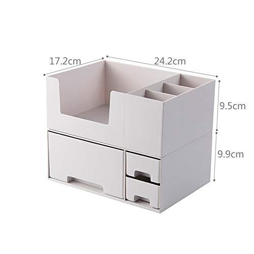 Doppelschicht Kunststoff Kosmetische Aufbewahrungsbox Desktop Aufbewahrungsbox Schublade Schmuck Make-Up Lippenstift Organizer Bad Organizer (Color : Gray 1 Set) -