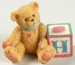 Cherished Teddies Bear With H Block 158488H by Enesco -