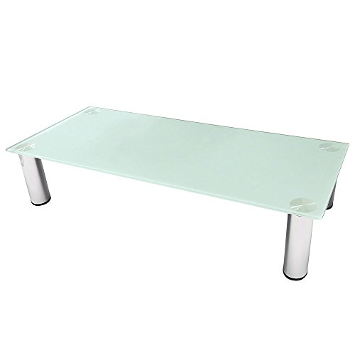 Melko® TV-Aufsatz Bildschirmerhöhung Monitorerhöhung Tisch Lowboard Beistelltisch Erhöhung für TV PC Montor, Weiß, 80 cm