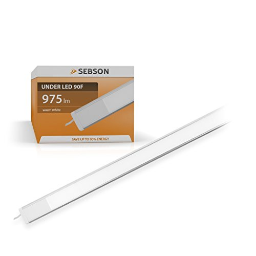 SEBSON LED Unterbauleuchte warmweiß 90cm, LED Leiste 15W, 975lm, LED Lichtleiste