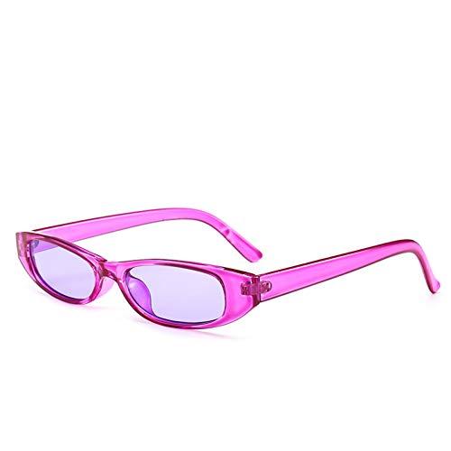 GJYANJING Sonnenbrille Vintage Rechteck Sonnenbrille Frauen Cat Eye Designer Damen Kleinen Rahmen Schwarz Rot Sonnenbrille Marke Retro Skinny Eyewear
