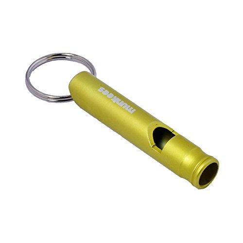 munkees Schlüsselanhänger Signalpfeife aus hochwertigem Aluminium, Notfallpfeife, Schlüsselring, 3394