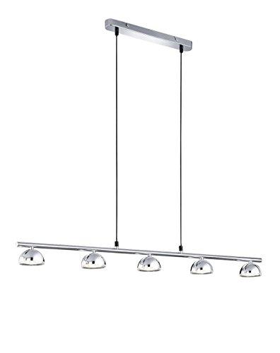 Trio Leuchten LED-Pendelleuchte in Kunststoff chromfarbig 372810506