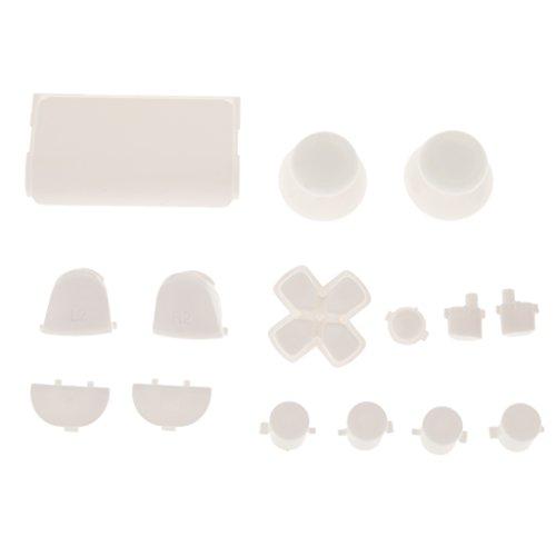 L2 R2 L1 R1 Thumbstick Kappe Gehäuse Button Mod Set Kit für Kontroller Sony PS4 - Weiß - Mod-button