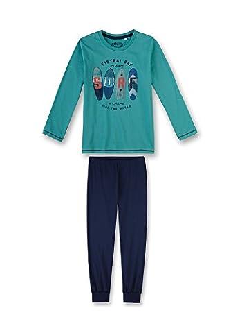 Sanetta Jungen Zweiteiliger Schlafanzug 243874 Türkis (Latigo Bay 5586), 140