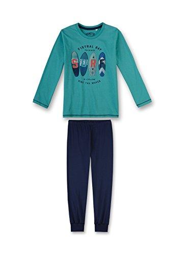 Sanetta Jungen Zweiteiliger Schlafanzug 243874, Türkis (Latigo Bay 5586), 164