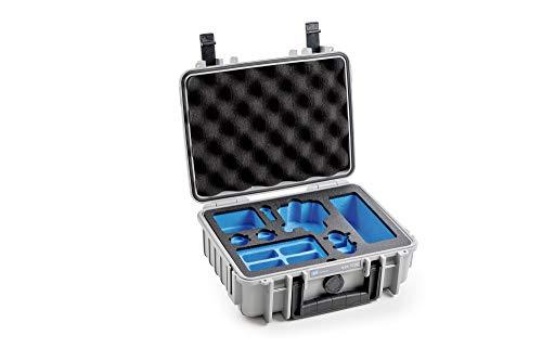 B&W outdoor.cases Typ 1000 mit DJI Osmo Action Inlay Koffer (4 ND Filter, 8 Akkus, 3fach-Ladeschale) 4 X 4 Kamera-filter