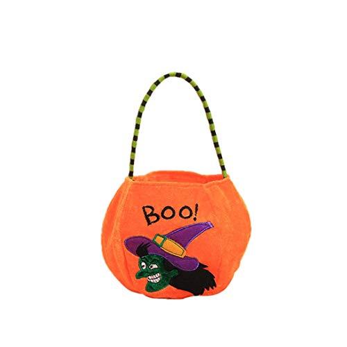 (Halloween Party flauschig, diadia Süßigkeiten Taschen für Baby Dusche Hochzeit Party Favor, Geschenk, Schmuck, Candy, Tote Taschen für Kinder Festival Orange Witch)