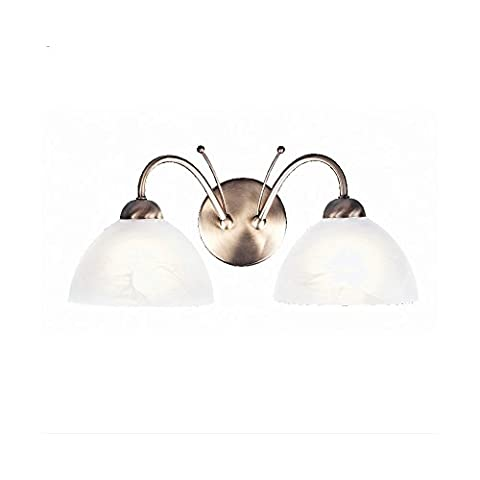 Milanese Antique Brass Finish Twin Wall Light, 1132-2AB