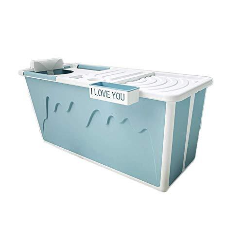 MY1MEY Bañera portátil para Adultos, bañera Plegable, bañera para niños domésticos, TPE + PP...
