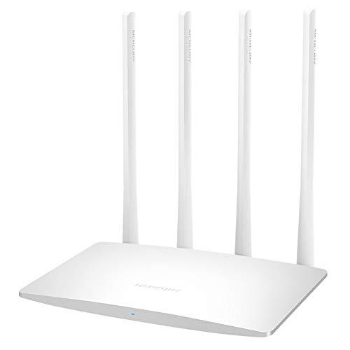 JIANG WiFi Router, High Gain Vier-Antennen-Glasfaser-WLAN-Router Home WiFi Durch die Wand Intelligente Hochgeschwindigkeit. Internet steckt Nicht fest - Router-modem-kombination