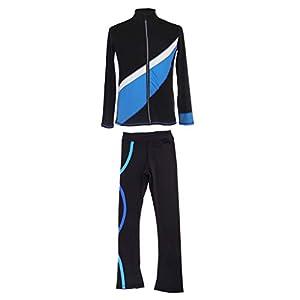 Toygogo Eiskunstlauf Schlittschuhhose Trainingsjacke Sport Hose Jacke Set