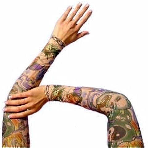 Tatuaje, mangas de tatuaje, 1 par, modelo de 45cm, diseños seleccionados.