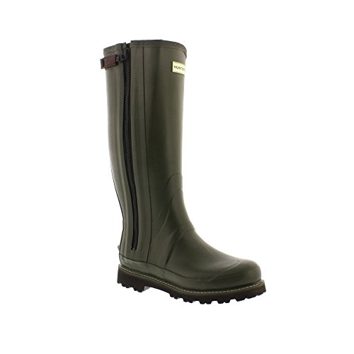 Hunter Mens Commando Full Zip Boot - Dark Olive (Green) Mens Wellies...