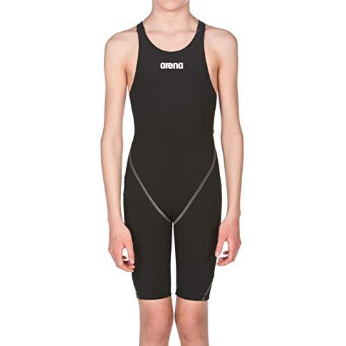 arena Mädchen Badeanzug Wettkampfanzug Powerskin ST 2.0 (Perfekte Kompression, Minimierter Wasserwiderstand), Black (50), 140