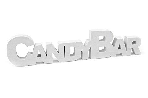 Unbekannt Schrift-Zug/Holz-aufsteller Candy-Bar aus Holz in weiß - Hochzeit/Hochzeits-Dekoration/Candy-Bar/Deko-Aufsteller/Hochzeits-Zubehör/Dekoration/Deko-Figur