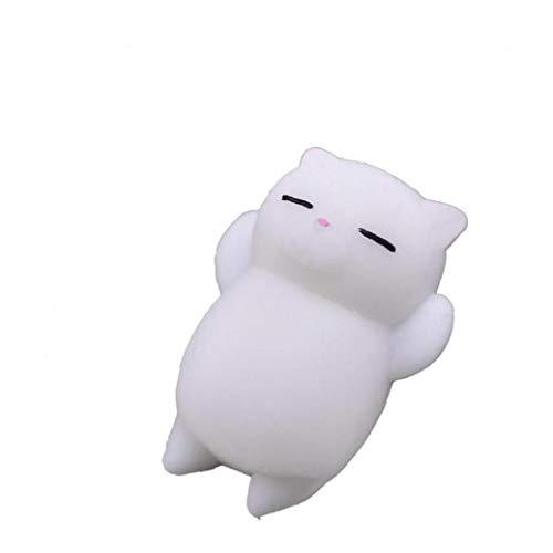 Mini Katze-Silikon-Toy Squeeze Stress-Stress Release Reliever Toy Decompression Weiche Kleine Abreaktion Spielzeug