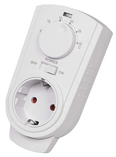 "Steckdosen-Thermostat McPower""TCU-330"" 5-30°C, max. 3500W, 230V/16A"