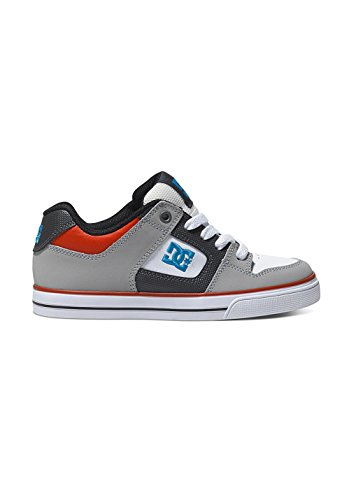 DC Shoes Pure B Jungen Sneaker Grey/Black/Red