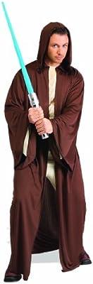Con capucha con texto de Jedi Star Wars para albornoz de disfraz para adulto de