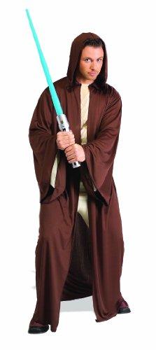 Wan Kenobi Kostüm Obi Robe - Rubie 's Offizielles Jedi Bademantel Star Wars Erwachsene Fancy Kleid Herren Lange Robe Umhang Kostüm Zubehör