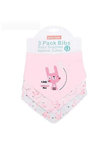 Enfant Bébé Bandana Dribble Bavettes avec Boutons De Presse Coton 0-3 Ans Pack De 6Pieces Pack,Babyrabbit