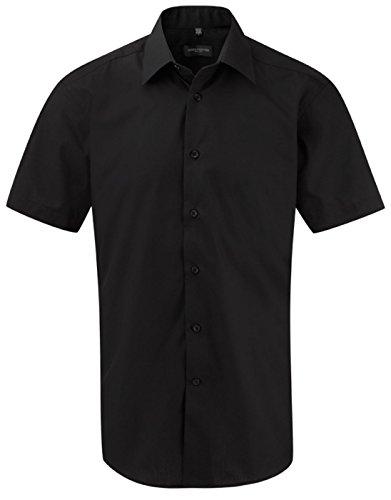 Chemise à manches courtes Russell Collection pour homme Noir - Noir