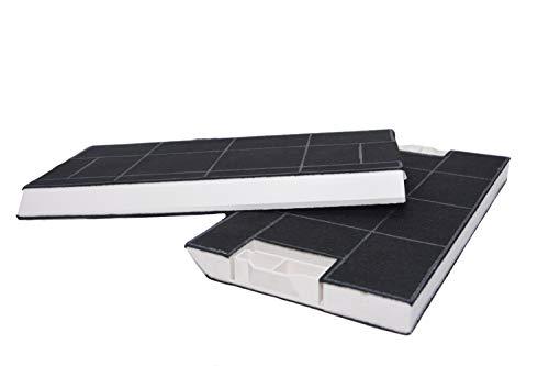 Aktive Kohlefilter geeignet für Dunstabzugshaube Bosch BSHG 00434229 DHZ4506, Siemens LZ45501, Neff Z5144X1, Z5144X5, Constructa CZ5144X5, Gaggenau KF280002 KF280001. (2x Aktivkohlefilter)