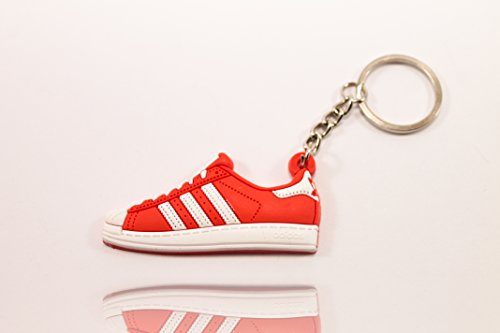 Preisvergleich Produktbild Sneaker SchlüsselanhängerSuperstar Red Schlüsselanhänger fashion für Sneakerheads,hypebeasts und alle Keyholder | ProProCo®