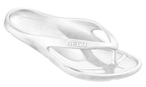 Beco Damen Zehenslipper, Weiß, 39 (Flip Flops Weiße)