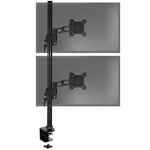 Duronic DM35V2X2 Monitorhalterung/Tischhalterung/Monitorarme/Monitorständer für LCD/LED Computer Bildschirme/Fernsehgeräte mit Neig-, Schwenk- und Rotierfunktion -