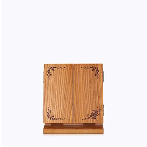 MODYL Bambus Holzverarbeitung HOLZSPIEGEL Holz Original Bambus Holz Kosmetik DREI Hölzerne Make-Up-Spiegel Handwerk Make-Up-Spiegel,Printed,38 * 16 * 38 (Kisten Holz Handwerk)