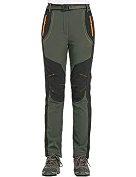 Hibote Mujer Hombre al Aire Libre de Estiramiento de Fleece Forrada Senderismo Pantalones de Escalada Pantalones...
