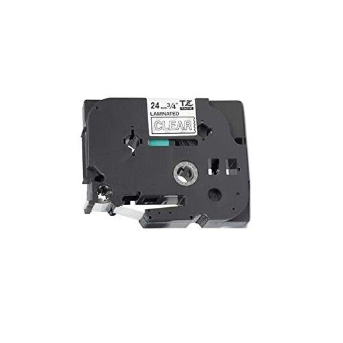 Compatibile Cassette TZe-155 TZ-155 bianco su trasparente 24mm x 8m Nastro laminato per Brother P-Touch PT-2430PC 3600 9600 9700 9800 D600VP D800W E300VP E550WVP E850 H500 P700 P750W Etichettatrici