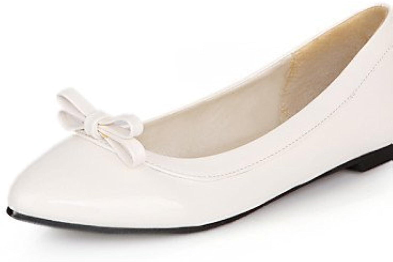 ShangYi Scarpe Donna - Ballerine - Casual - A punta - Piatto - Finta pelle - Nero   Blu   Giallo   Rosso   Bianco... | Alta sicurezza  | Scolaro/Ragazze Scarpa
