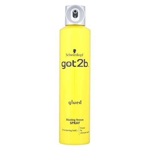 Schwarzkopf got2b Glued Blasting Freeze Spray 300ml (Pack of 2)
