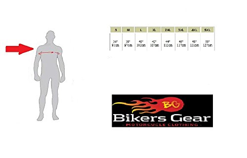 Bikers-Gear-UK-Giacca-Vintage-Wax-pelle-pieno-fiore-nero-taglia-2XL