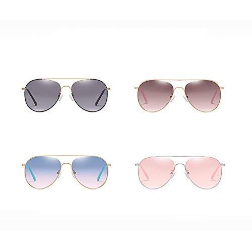 Heqianqian Damen Sonnenbrille Frauen Nylon Objektiv Sonnenbrillen Mode Piloten Spiegel Metallrahmen Sonnenbrille Brille für Urlaubsreisen (Color : B)