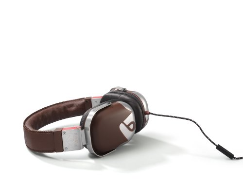 Frends The Classic Kopfhörer (In-Ear), Leder, inkl. Mikrofon und Fernbedienung, Braun
