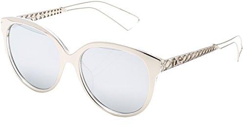 Dior Damen DIORAMA2 DC TGU Sonnenbrille, Silber (Silver Pld/Extra White Marl), 56