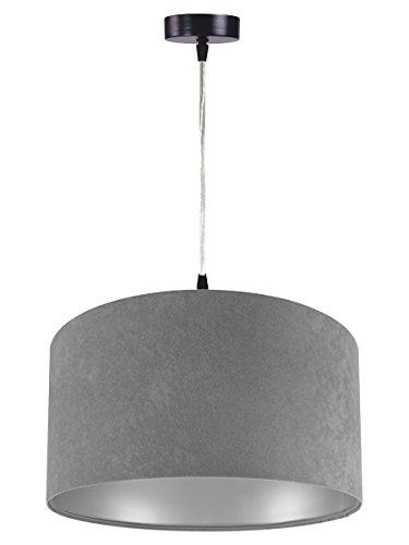 Pendelleuchte Jalua P Velours grey & silver Ø 40 cm